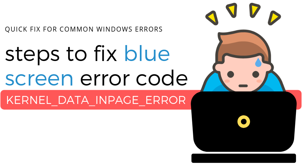 How To Fix Kernel Data Inpage Error in windows