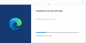 Fix Microsoft Edge Issues-Reinstalling Application