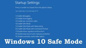 Safe Mode On Windows 10