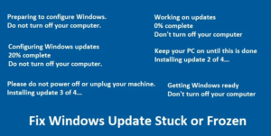 Stuck Or Frozen Windows Update