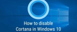 Turn Off Cortana via the Registry