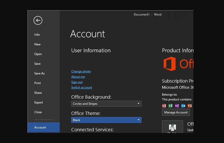 Turn On Dark Mode In Microsoft Office