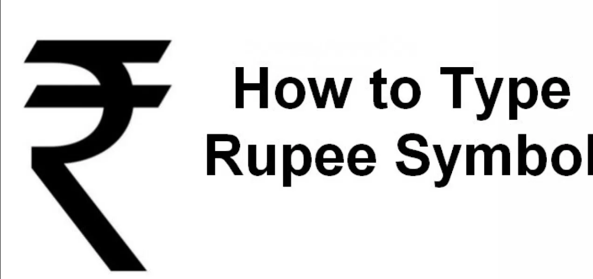 Type Indian Rupee Symbol