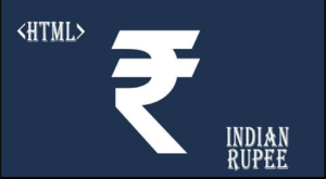 Type Indian Rupee Symbol in HTML