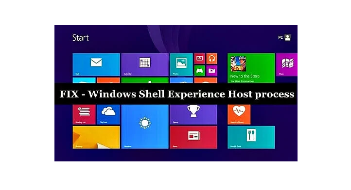 Windows Shell Experience Host issue