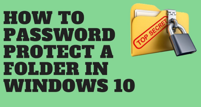 password protect files or folders