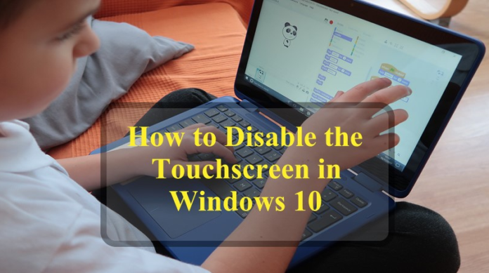 turn off Touch Screen