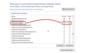 Enable RDP Port Via Windows Firewall