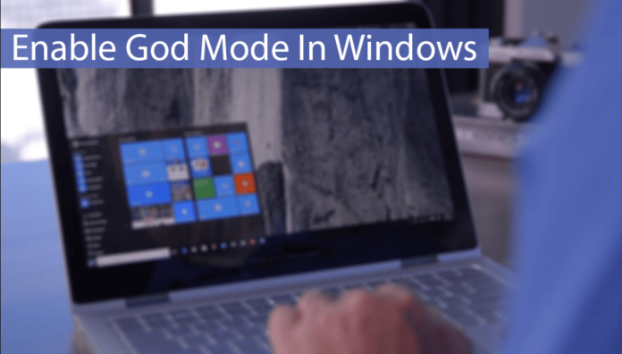 Enable God Mode Windows 10