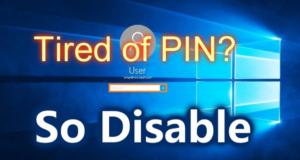 Turn off Windows PIN