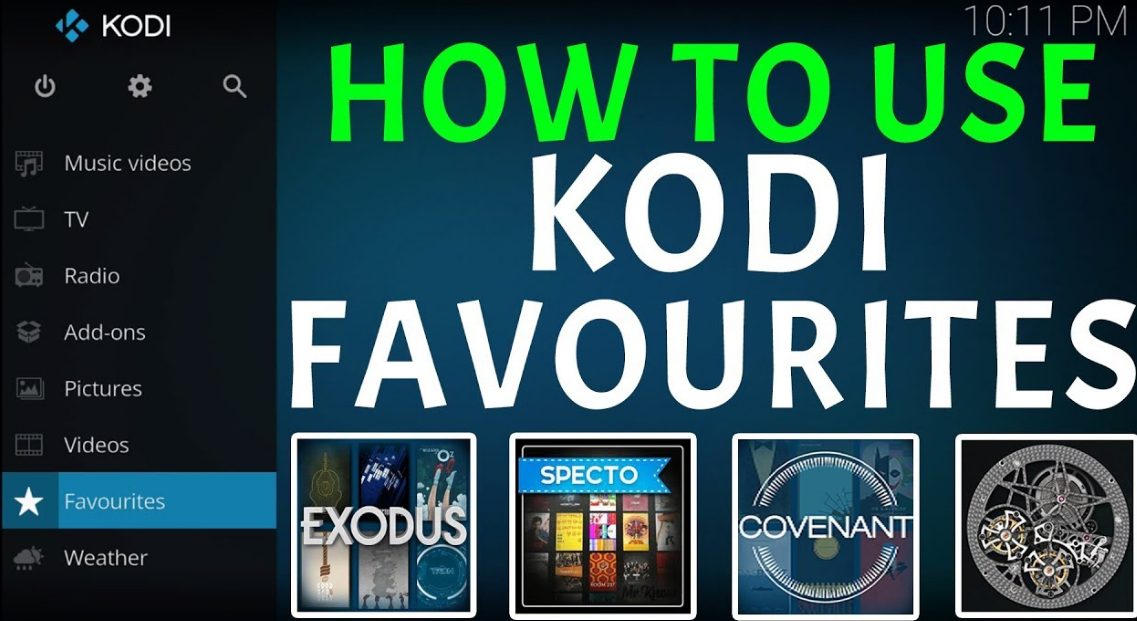 Use Favourites In Kodi