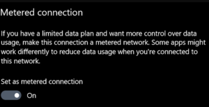 Windows 10 Metered Connection