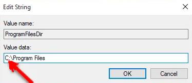 default installation location