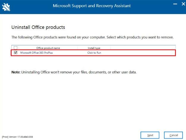 remove office 365