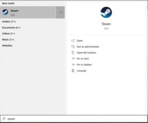 steam folder windows 10