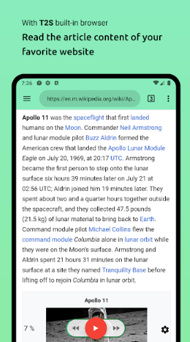 text reader for android