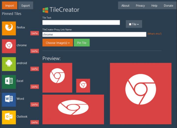 TileCreator-Taskbar Customization Tools