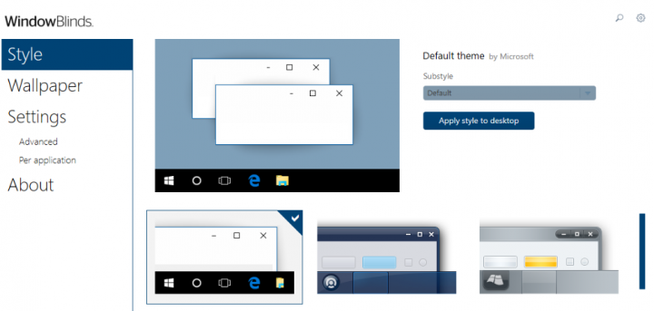 WindowBlinds-Taskbar Customization Tools