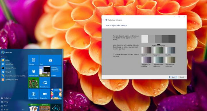 Windows 10 Color Control