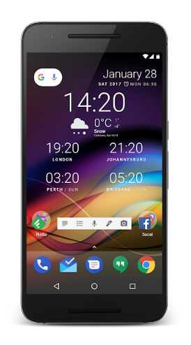 clock widgets for android