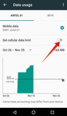 data limit reached