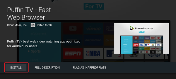 Chrome for Android TV