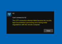L2TP Connection Attempt Failed