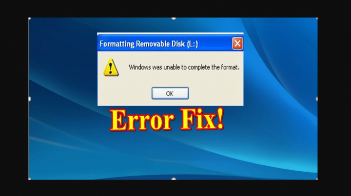 Windows Can't Format This Drive