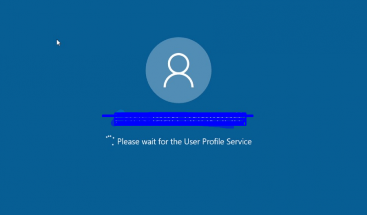 please wait for the user profile service