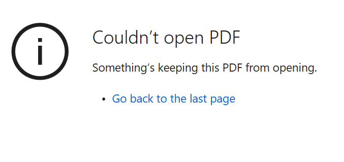 somethings keeping this pdf from opening