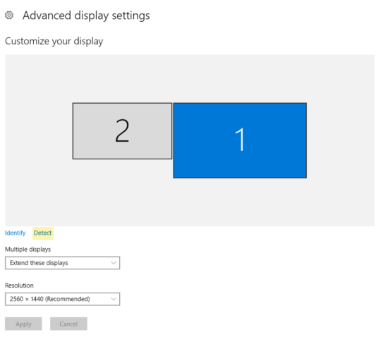 windows 10 can't change resolution