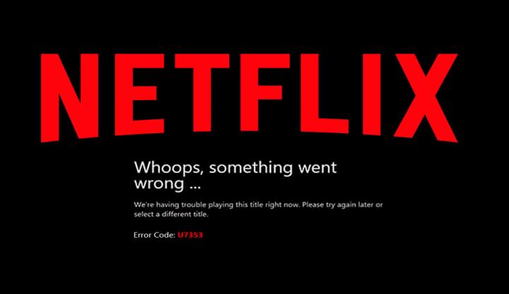 Fix Netflix Error U7353-5101
