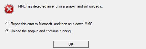 MMC Has Detected An Error