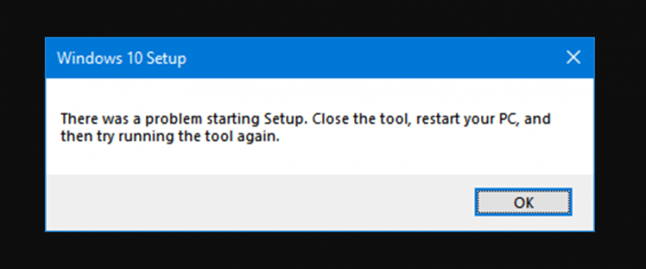 There Was A Problem Starting Windows 10 Setup Error