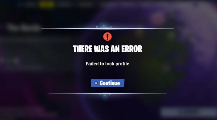 Failed To Lock Profile Error In Fortnite