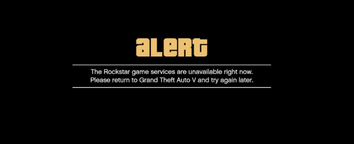 Rockstar Game Services Are Unavailable