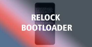Relock Bootloader
