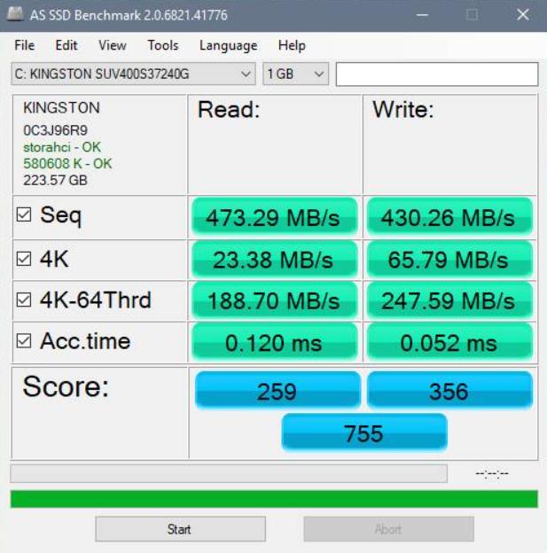Check SSD Speed