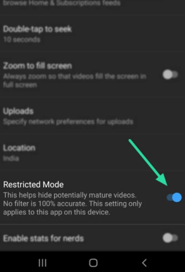 YouTube Restricted Mode